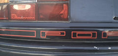 Porsche 924 Rear Porsche Decal