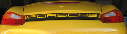 Porsche Decal for Boxster Rear Spoiler